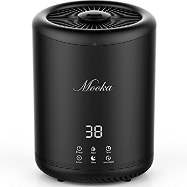 Mooka Humidifiers, Ultrasonic Cool Mist Humidifier With 4 Liter Large Capacity, Ultra Quiet, Waterless Auto Shut-off, Sleep Mode for Home Office Bedroom Living Room Babies