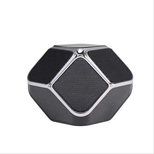Mirage USB Woofer Subwoofer-TF-Karte Music Center drahtloser beweglicher Heimkino-Bluetooth-Lautsprecher PC-Lautsprecher Schwarz (Color : Black)