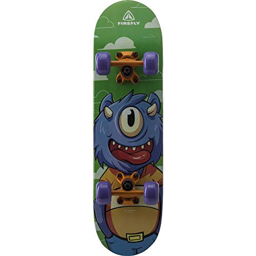 FIREFLY Unisex – Erwachsene SKB 100 Skateboard, ORANGE/Purple/GREE, One Size
