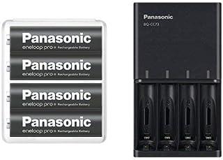 【Amazon.co.jp限定】パナソニック エネループ 単3形充電池 4本パック 大容量モデル eneloop pro BK-3HCD/4SA + 急速充電器 BQ-CC73AM-K セット