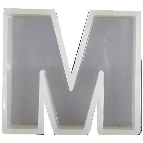固まるハーバリウム そらプリ クリアリウム レジン シリコンモールド アルファベット M 1個 40mm×39mm