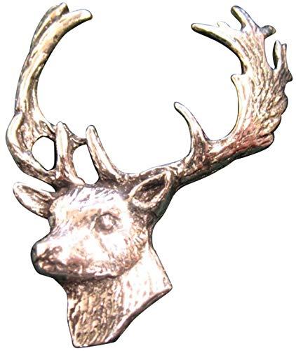 Brazil Lederwaren Ansteckpin Damhirsch   für den Hut oder das Revers   Perfekt zum Jagd-Outfit   Anstecker Pin Button
