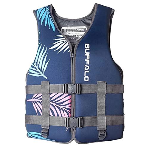 YDSZ Chalecos Salvavidas Chaleco natación Flotante Flotante Adulto niños al Aire Libre Rescate Trajes de Pesca Kayaking Snorkeling Deportes de Seguridad Accesorios Blue-S