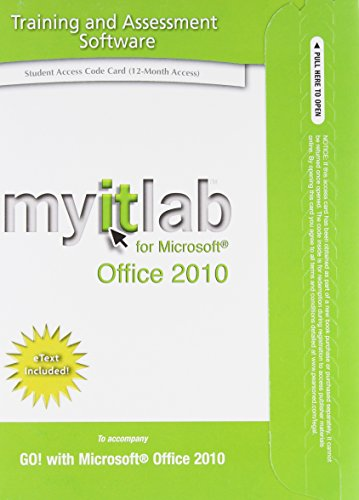 myitlab with Pearson eText -- Access Code -- for GO! Office 2010