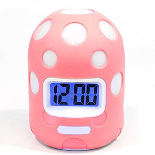 Reloj Despertador con repetición Luminosa, Caja de Silicona LCD de Moda, Reloj Despertador Colorido de Dibujos Animados Personalizados para niños