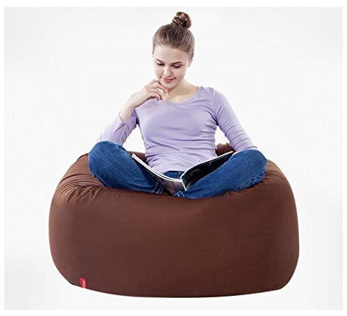 length Suave algodón Lazy Couch Bean Bag Tatami Balcón Dormitorio Sala de Estar Oficina Grueso Individual Suave Sección pequeña Sección Grande (Color : Brown, Size : L)