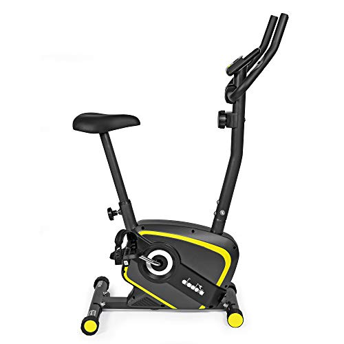 Diadora Fitness Lilly Evo, Cyclette Magnetica,Unisex, Adulto, Nero/Giallo