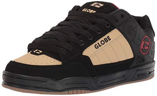 Globe Men's Tilt Skate Shoe, Black/Khaki/Red, 5.5 M US
