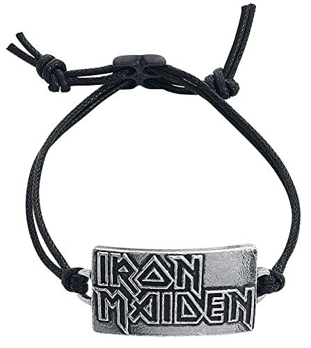 Iron Maiden Iron Maiden Logo Unisex Armband schwarz Hartzinn Band-Merch, Bands