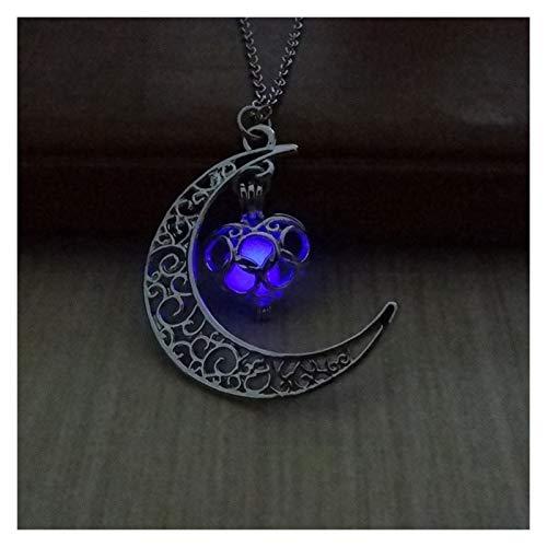 Collar delicado para mujer Collar para mujer, luna luminosa perla cadena de clavícula, moda colgante de collar simple para niñas joyería, regalos para el aniversario de cumpleaños Día de San Valentín