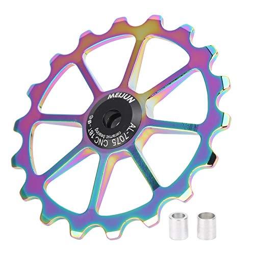 Rodillo de guía Trasero, polea de Cambio Trasero de Bicicleta aleación de Aluminio + cerámica para Rueda de guía de Ejes de 6mm de Cambio Trasero(Bright Color)