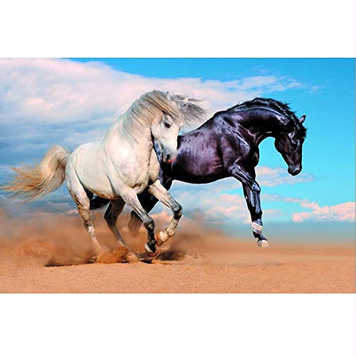 Pmhc Foto Moderna 3D Mural paard A twee Run zand dieren wallpaper Sala Da Pranzo Tv Sofa voor slaapkamer metselbed 450x300cm