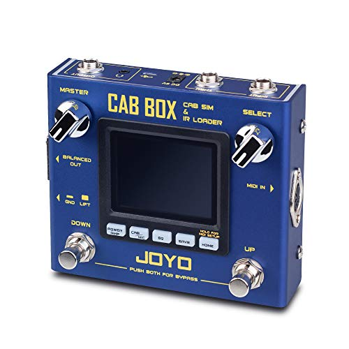 JOYO Cab Box R-08 R Series Electric Guitar & Bass Effect Pedal with IR Loading & Cabinet Modeling and Power Amp Simulator Supports Third Party IRs (R-08)