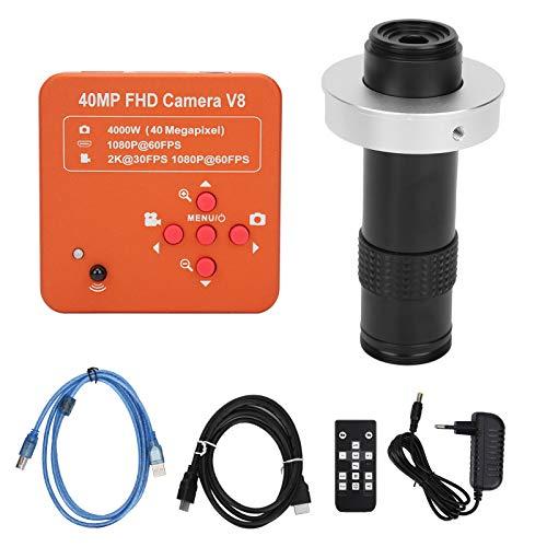Fotocamera con microscopio elettronico KP-130X-4100, scheda di memoria da 64 GB Fotocamera industriale compatibile con HDMI con obiettivo 40MP per AC100-240V UE