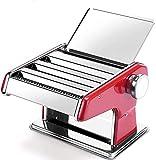 GAOJINXIURZ Máquina de pasta, rodillo de pasta para máquina de fideos con 3 ajustes de hoja de prensa, abrazadera de mesa y herramienta de medición de pasta para espaguetis caseros