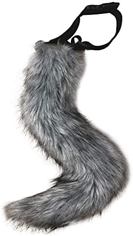 JUNBOON Faux Fur Tail for Adult/Teen Cosplay Halloween Party Costume