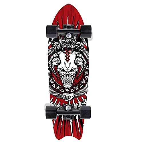 CUTEY Skateboard De 28 Pulgadas, Tabla De Surf De Surf Professional, City Street Land Cruiser Skateboard Completo, Regalos para Adultos, Niños, Surfistas,No. 5