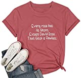 Every Rose Has Its Thorn Shirt Ew, David Rose T-Shirt Funny Gift Tee Shirt Letter Print Tee Vintage Top Blouse