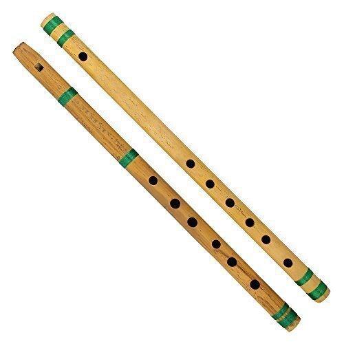 India bansuri flauta de bambú, juego de 2, fipple y transversal, para niños