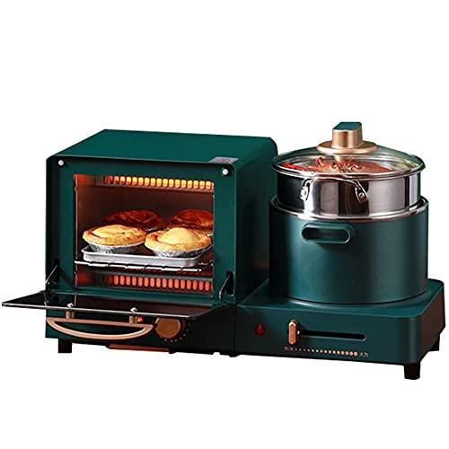 BCXGS Máquina de Desayuno Eléctrica 3 En 1 Máquina De Desayuno para El Hogar Mini Tostadora De Pan Horno para Hornear Tortilla Sartén Vaporera De Alimentos