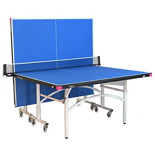 Butterfly Easifold 19 Ping Pong Table - Ping Pong Table Regulation Size with Easy Net Set - 10 Minute Quick Assembly - Folding with Wheels for Easy Storage