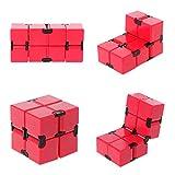 WE-WHLL Infinity Cube Mini Versione Antistress Fidget Red Divertente Giocattolo Anti Ansia