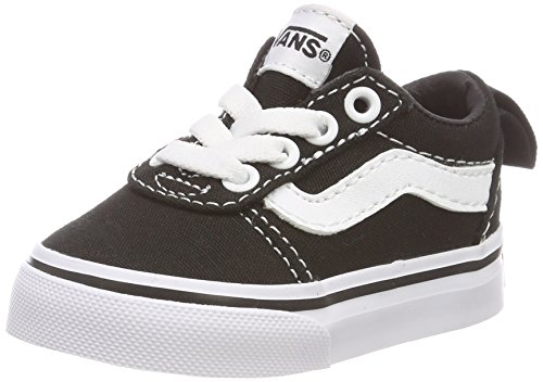 Vans Unisex Baby Ward Slip-ON Sneakers, Schwarz ((Canvas) Black/White 187), 26.5 EU