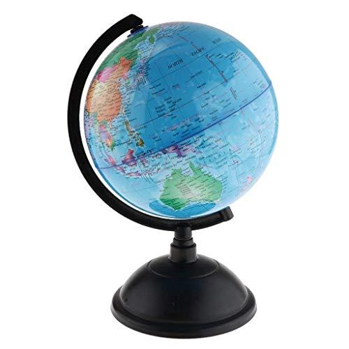 Backbayia Surface Terrestre Aquatique Globe/Educatif Montessori Globe de Monde/Globe de Bureau Décoration