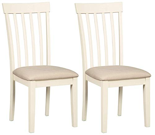 Signature Design by Ashley Slannery Dining Room Chair, White Antique White Dining Room Sets