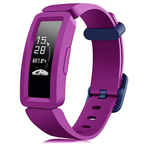 Onedream Kompatibel für Fitbit Ace 2 Armband Kinder, Sport Ersatzarmband Silikon Armbänder für Ace 2 Zubehör Jungen Mädchen