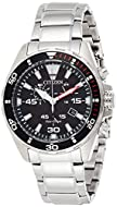 Citizen Men's Chronograph Eco-Drive Watch with Stainless Steel Strap AT2430-80E