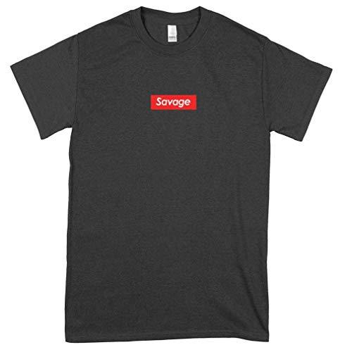 21 Savage Logo Box T Shirt Relaxed Fit Classic Guys Unisex Tee Summer Fashion Shirt Teen Girl Trendy Shirt Old Fashioned Hot Fashionable Custom T-Shirts