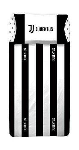 Juventus 6393 673 S001 Completo Letto, 100% Cotone, Bianco/Nero