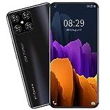 LJYTZZJN, Smartphone Ultrafino de 7,2 Pulgadas, 5G, 12GB + 512GB, 16MP + 32MP, 5000mah, Android 10.0, reconocimiento Facial- Black