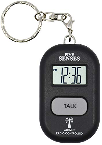 Atomic Talking Key Chain for Women Men Elderly Visually Impaired Cute Smart Keychain Multiple Alarm ClockWatch by 5 Senses 1281B