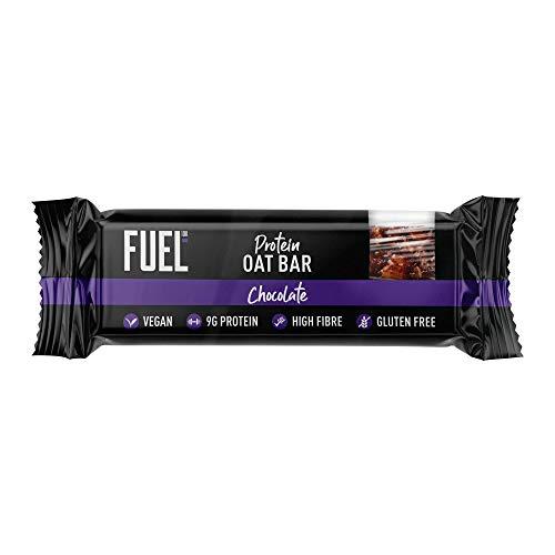 FUEL10K Chocolate Porridge Oat Bars - 20x45g - High Protein On The Go Breakfast Bars