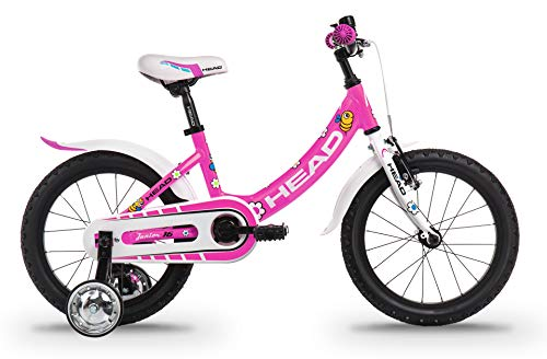 Head Bike Junior Girl-16, Bicicletta Bambina, Rosa Fluo Opaco, 13cm