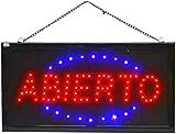 Letrero cartel Panel LED iluminacion negocio abierto open locutorio Letrero cartel Panel LED abierto luz Cartel iluminacion abierto (ABIERTO-0)
