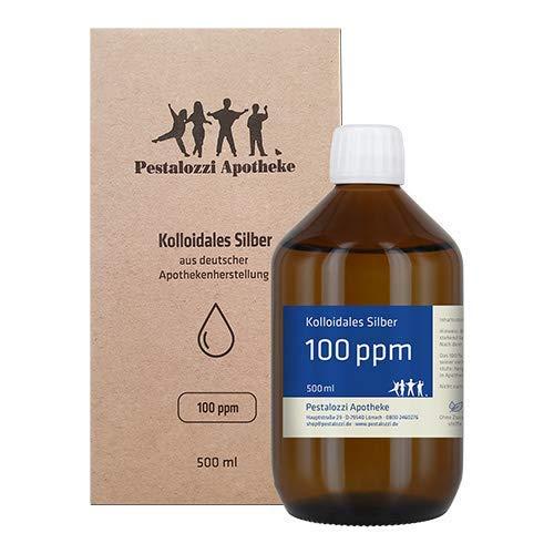 Kolloidales Silber 100ppm aus Apotheken-Herstellung (500 ml) - 100% natürliches, kolloidales Silberwasser, ohne chemische Zusatzstoffe (500 ml)