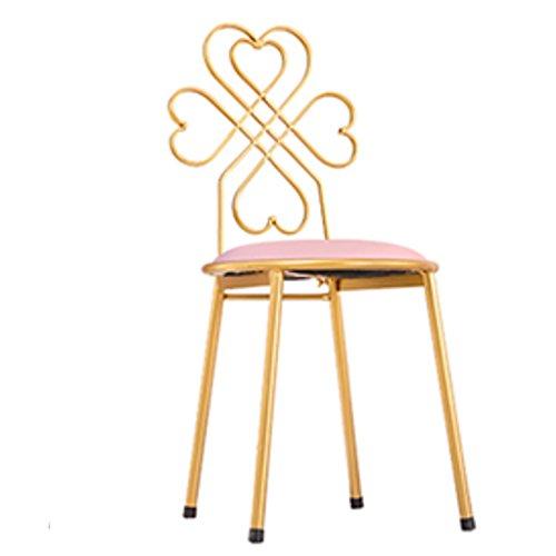 Celerity Barkruk, barkruk, industriële barkruk, in de vorm van meisjes, eetkamerstoel, webstoel, moderne eenvoudige stoel, goud, bureaustoel, terug Stoo Roze
