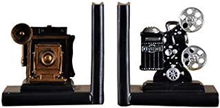 TOOGOO CáMara Retro Sujetalibros Proyector de PelíCula de Plata Negra Proyecto de Coleccionista Estantería Creativa Joyería Vintage Sala de Estudio Estudio Decoraciones para el Hogar