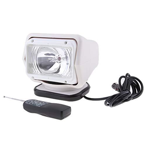 Homyl LED Phare Moto Spot Lumière Clignotant Moto Projecteur Lampe Etanche - Blanc
