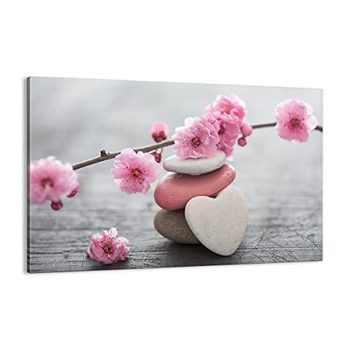 Cuadro sobre lienzo - Impresión de Imagen - yoga femenino flor salud - 120x80cm - Imagen Impresión - Cuadros Decoracion - Impresión en lienzo - Cuadros Modernos - Lienzo Decorativo - AA120x80-3178
