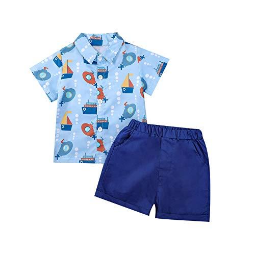YWLINK Camisa Con Botones De Hojas De Playa De Dibujos...