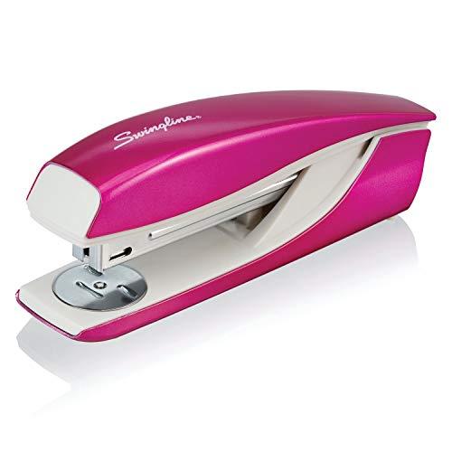 Swingline Stapler, NeXXt Series Wow, Desktop Stapler, 40 Sheet Capacity, Pink (55047023)