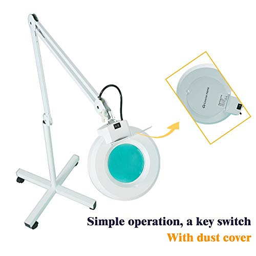 5X LED Lamp Makeup Light Magnifying Glass for Floor Beauty Manicure Tattoo Salon Spa for Medical Cosmetology