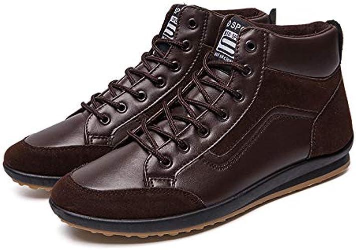 LOVDRAM Bottes Homme Chaussures De Sport pour Hommes. Hiver 46 Chaussures De Sport Mode Chaussures De Mode Sauvages Chaussures De Marche pour Homme De Grande Taille