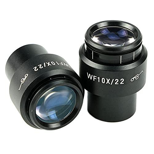 DADAKEWIN Un Par De WF10X 22mm Microscopio Binocular Binocopio Microscopio Estéreo Lente Súper Ancho Punto Alto Ojo con Tazas De Ojo Montaje 30mm (Size : WF10X)