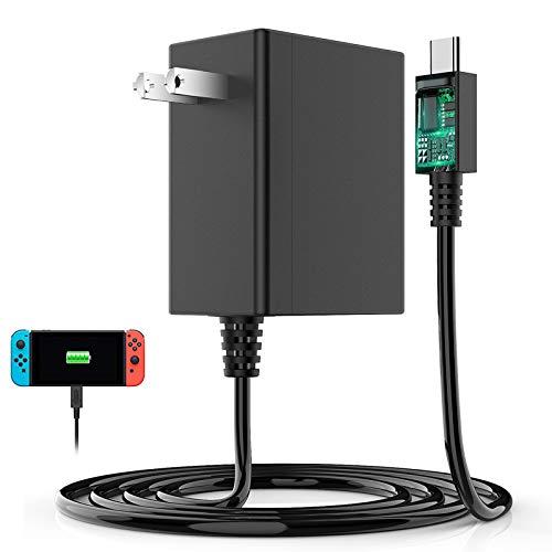 Switch用 ACアダプター Chayoo TVモード対応 Type-Cコネクタ PSE認証済 安全保護 急速充電 PD規格 ニンテンドー スイッチ 充電器 1.5mケーブル 日本語取扱説明書付き