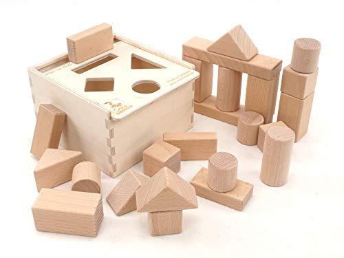 CreaBLOCKS 2-in-1 Steckbox / Formensortierspiel / Sortierbox Baby - Bauklötze